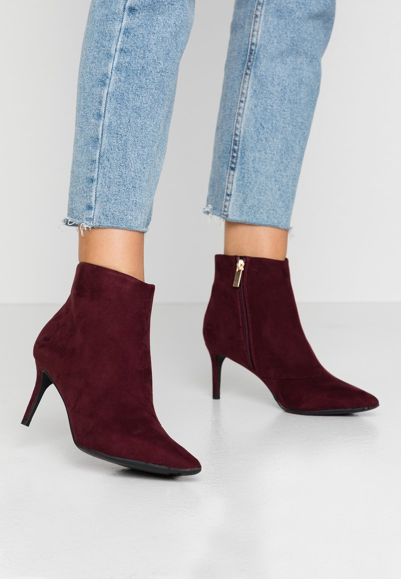 Dorothy Perkins - ALEXI SHOE POINT - Ankle boots - burgundy