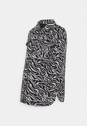 MATERNITY ZEBRA SHACKET - Lehká bunda - black