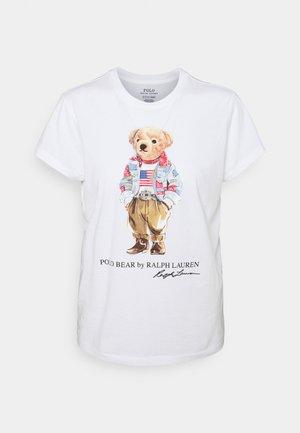 BEAR SHORT SLEEVE - T-shirt med print - white