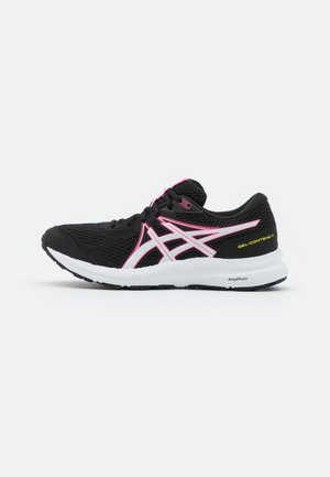 GEL CONTEND 7 - Neutral running shoes - black/hot pink