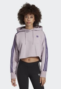 adidas Originals - CROPPED HOODIE - Luvtröja - purple - 0
