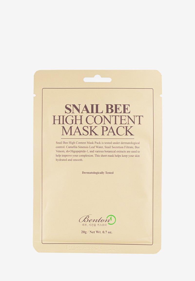 Benton - SNAIL BEE HIGH CONTENT MASK 2 PACK - Masque visage - neutral