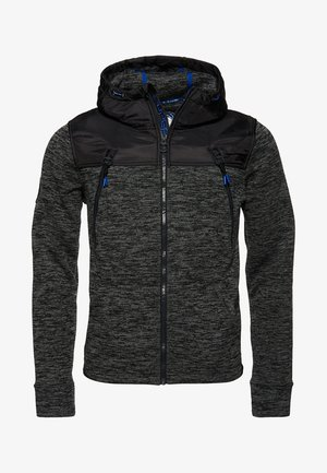 MOUNTAIN - Zip-up hoodie - black granite marl
