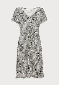 LIRA DRESS - Jersey dress - black/chalk