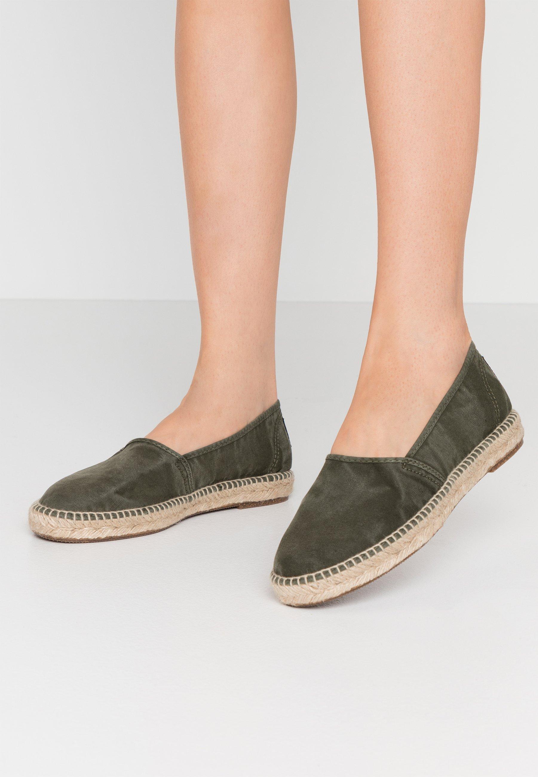 Damen Espadrille - kaki