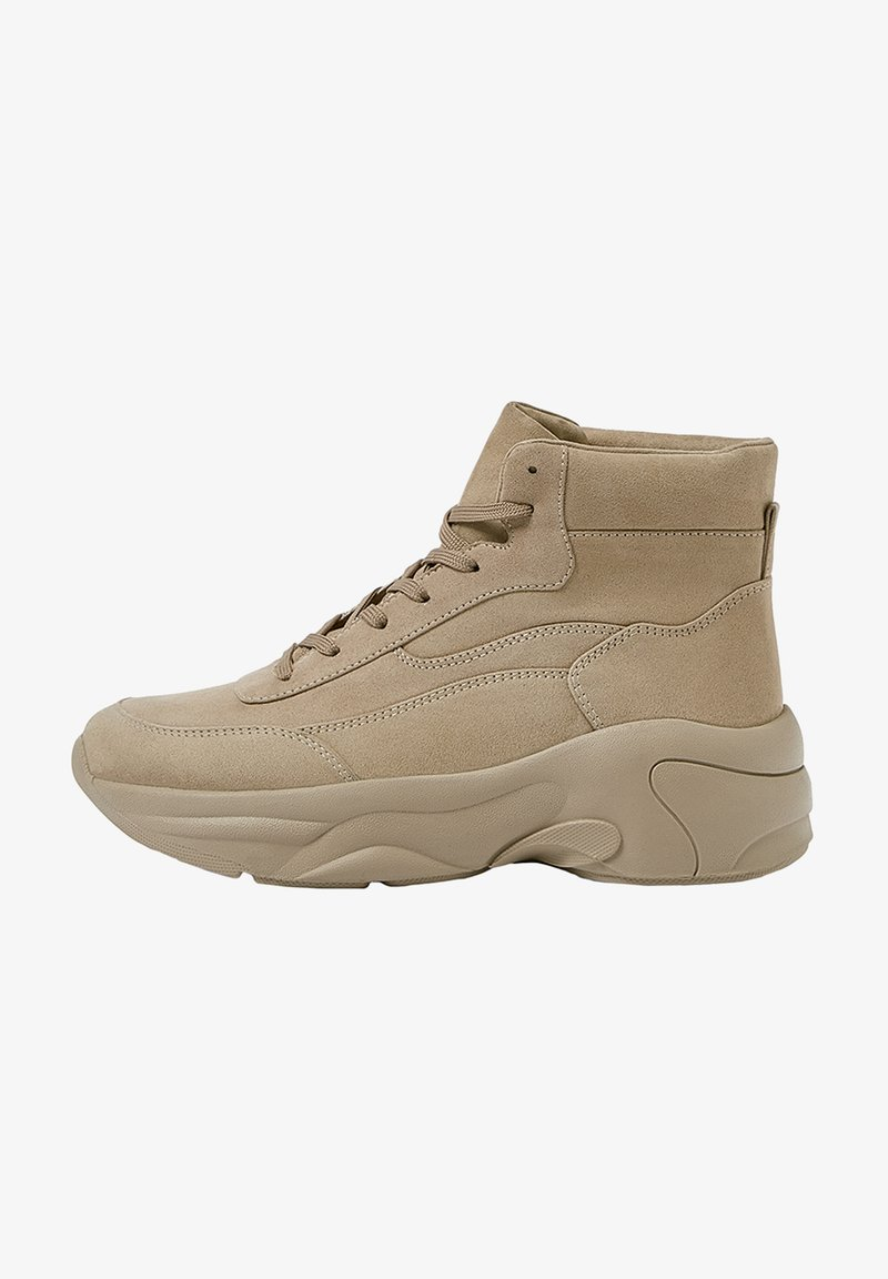 PULL&BEAR - High-top trainers - sand