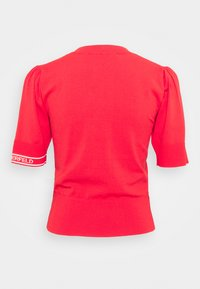 KARL LAGERFELD - PUFF LOGO - Print T-shirt - tangerine - 8