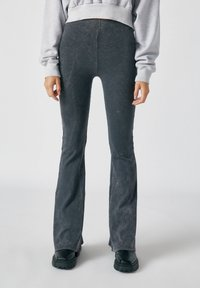 PULL&BEAR - Trousers - mottled dark grey - 0