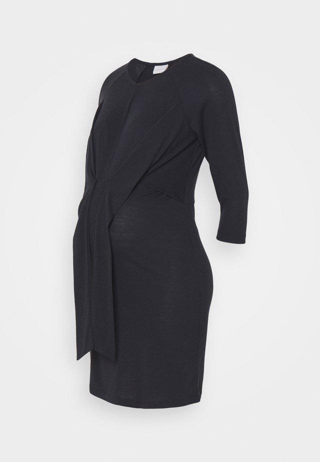 MLZILKE SHORT DRESS  - Vestito di maglina - dark navy