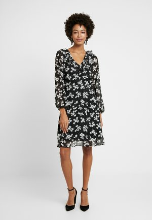 HEART FLORAL BUTTON DRESS - Day dress - mono