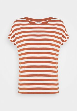 Print T-shirt - multi/cinnamon brown