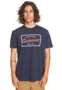 Quiksilver - BLAZING BACK  - Print T-shirt - navy blazer heather - 0