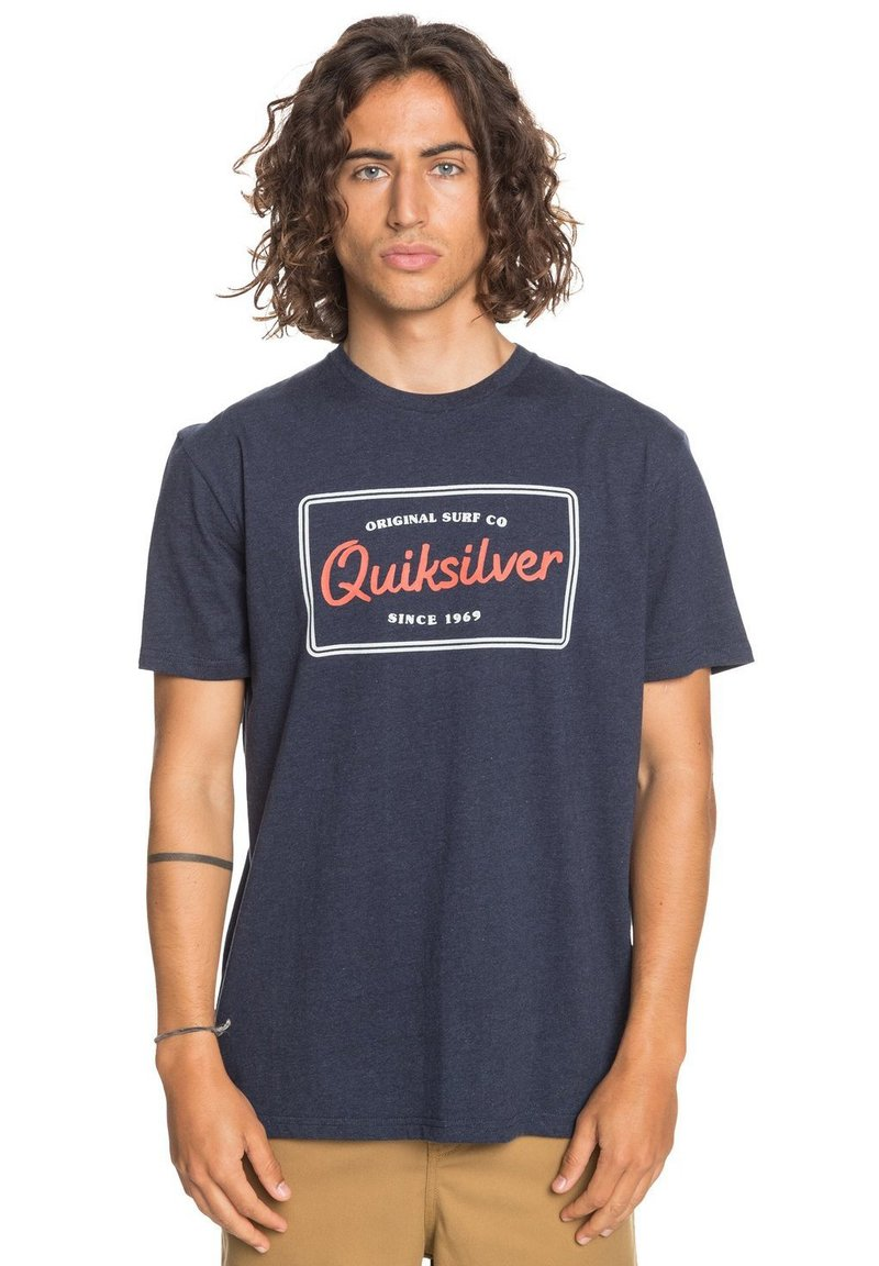 Quiksilver - BLAZING BACK  - Print T-shirt - navy blazer heather