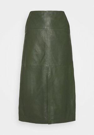 MARIE - Áčková sukně - khaki
