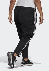 adidas Performance - ADIDAS SPORTSWEAR WRAPPED 3-STRIPES SNAP PANTS (PLUS SIZE) - Træningsbukser - black - 1