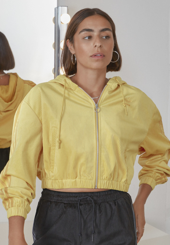 pelo Prevención Semejanza  adidas Originals SPORTS INSPIRED HOODED TRACK TOP - veste en sweat zippée -  coryel/jaune - ZALANDO.FR