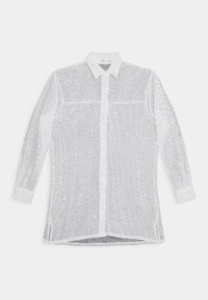 OVERSIZE SPARKLE - Button-down blouse - white