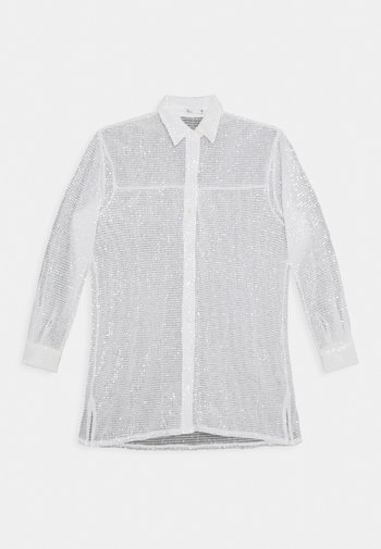 OVERSIZE SPARKLE - Košile - white