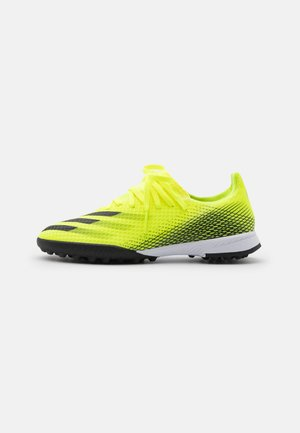 X GHOSTED.3 TF UNISEX - Astro turf trainers - solar yellow/core black/royal blue