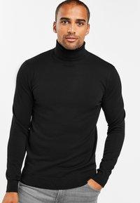 Next - Stickad tröja - black - 0