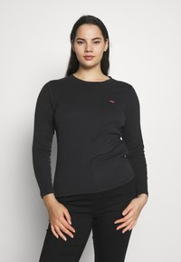 Levi's® Plus - BABY TEE - Long sleeved top - black solid - 0