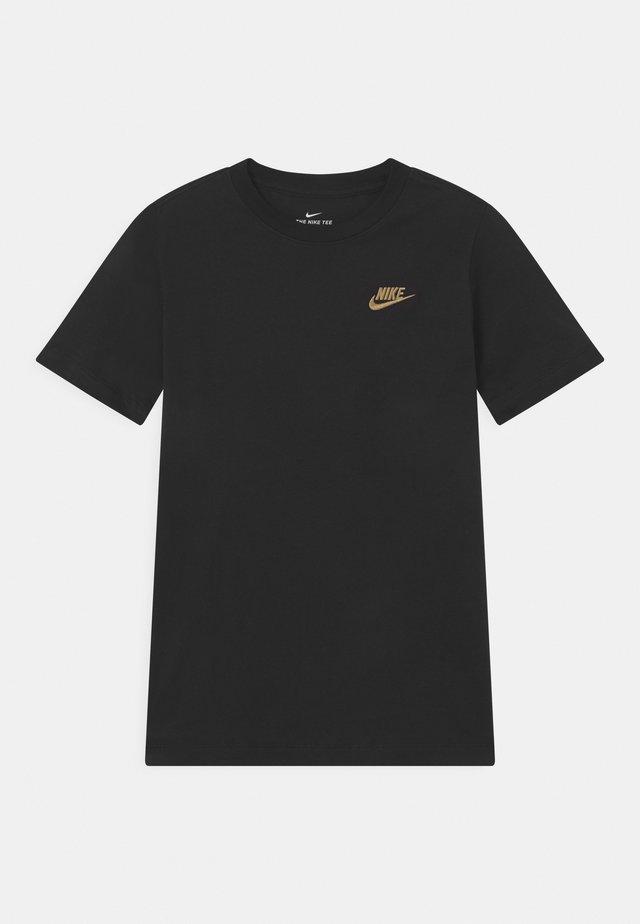FUTURA  - T-shirt basic - black/metallic gold