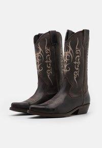 Kentucky's Western - UNISEX  - Cowboy/Biker boots - madison testa di moro/roc grey - 1