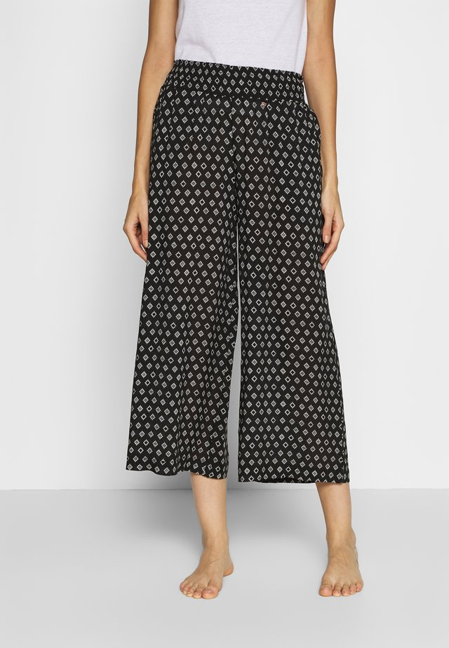DELILAH WOMEN PANTS - Pyjamahousut/-shortsit - black