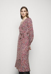 MICHAEL Michael Kors - TIERED WRAP DRESS - Day dress - dark ruby - 4