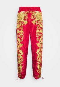 Versace Jeans Couture - PRINT BAROQUE - Tracksuit bottoms - red - 6