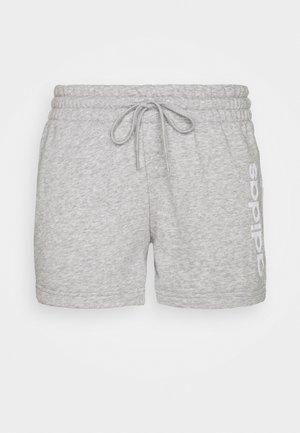 ESSENTIALS SLIM LOGO SHORTS - Pantaloncini sportivi - medium grey heather/white