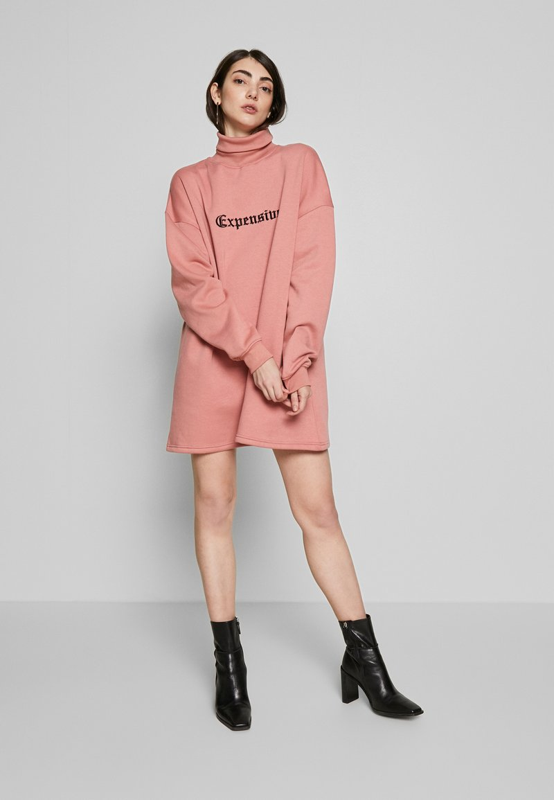Missguided - HIGH NECK DRESS EXPENSIVE - Day dress - blush