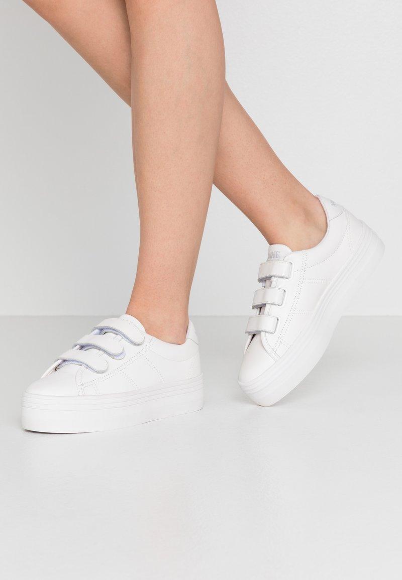 No Name - PLATO STRAPS - Baskets basses - fox white