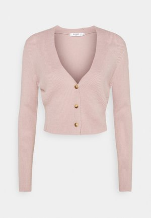 CROP CARDIGAN - Cardigan - pink