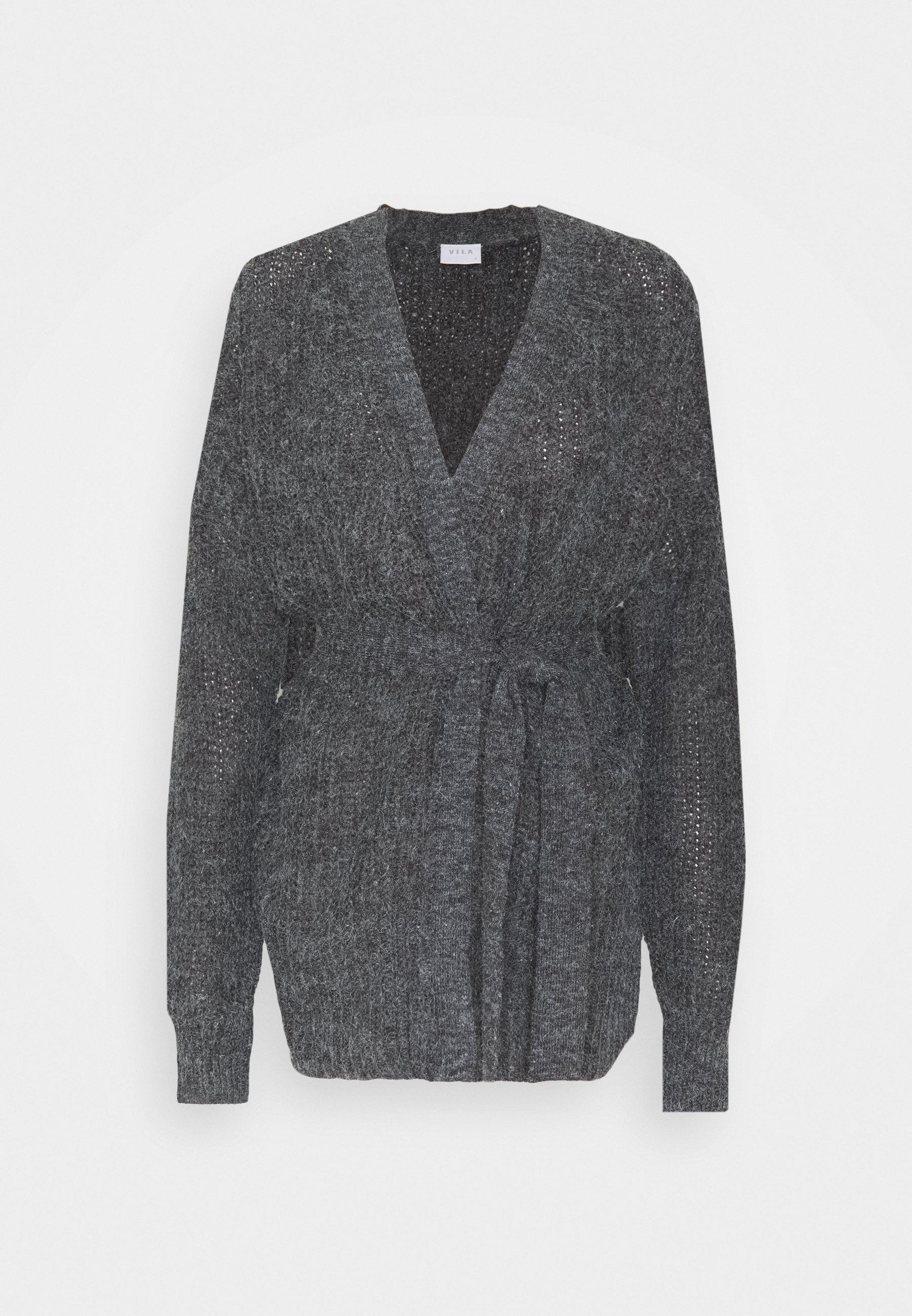VITIKTA CARDIGAN Strikjakke Cardigans dark grey melange