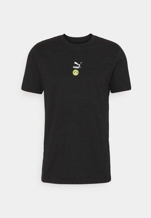 BVB BORUSSIA DORTMUND TEE - Print T-shirt - black/safety yellow