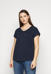 MY TRUE ME TOM TAILOR - 2 PACK - Basic T-shirt - real navy blue - 4