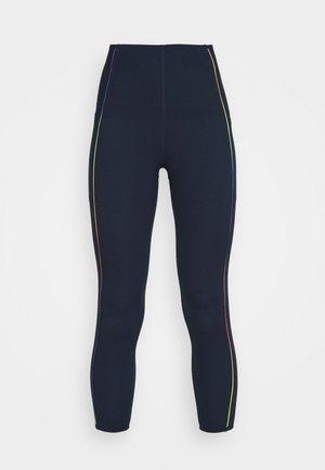 POWER HIGH WAIST 7/8 WORKOUT LEGGINGS - Leggings - navy blue/multi