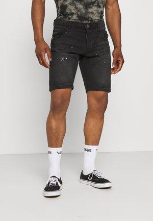NON PAINT - Denim shorts - black