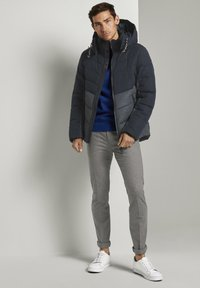 TOM TAILOR - Winter jacket - blue melange structure - 1