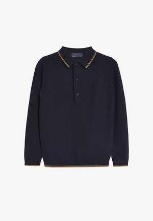 KNITTED TEXTURED - Longsleeve - blue