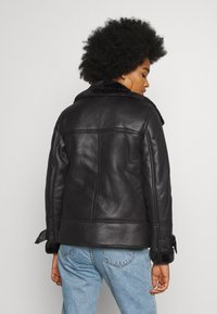 New Look - AVIATOR CHRISSY  - Faux leather jacket - black - 2