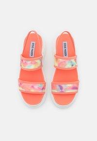 Steve Madden - SAMURAI - Platform sandals - coral/multicolor - 5