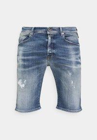 SHORT AGED - Denim shorts - blue denim