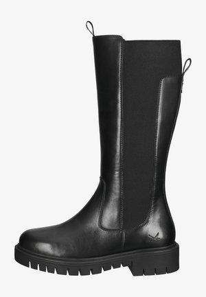 Overknee laarzen - schwarz 01