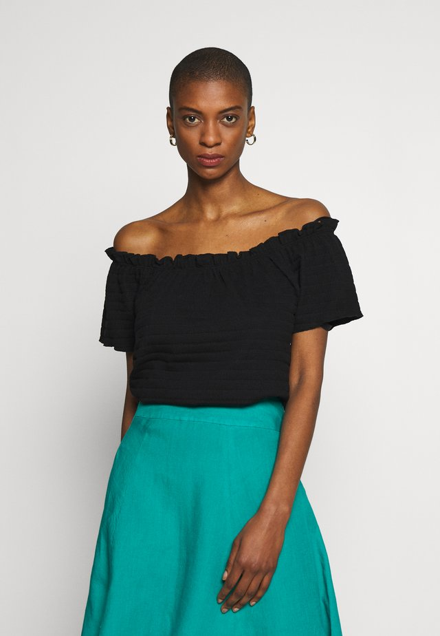 TORI - Basic T-shirt - pitch black