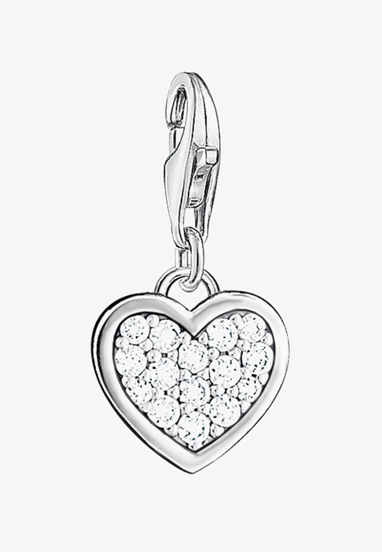 THOMAS SABO - HERZ - Pendant - silver-colored/white