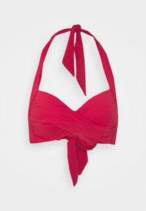 TWIST SOFT CUP HALTER - Bikini top - rouge