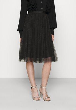 KISSES MIDI SKIRT EXCLUSIVE - A-line skirt - black