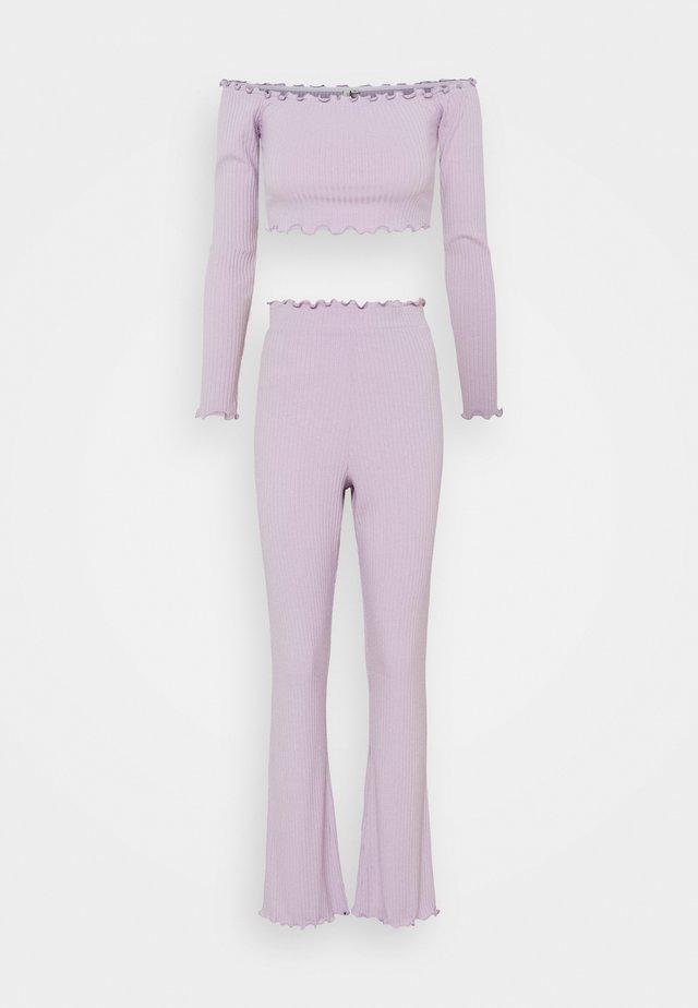 OFF SHOULDER SET - Trousers - light purple